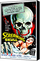 Horror Fantasy Movies Canvas Prints - The Screaming Skull, 1958 Canvas Print by Everett