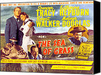 Films By Elia Kazan Canvas Prints - The Sea Of Grass, Spencer Tracy Canvas Print by Everett