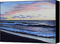 Hyper-realism Canvas Prints - The Sea Was Angry That Day My Friends... Canvas Print by Dan Lockaby