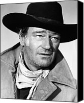 1950s Movies Canvas Prints - The Searchers, John Wayne, 1956 Canvas Print by Everett