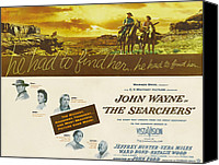 1956 Movies Canvas Prints - The Searchers, John Wayne, Natalie Canvas Print by Everett
