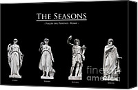 Still Life Sculpture Photo Canvas Prints - The Seasons Canvas Print by Fabrizio Troiani