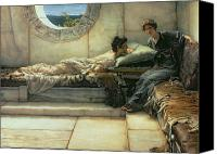 Chat Canvas Prints - The Secret Canvas Print by Sir Lawrence Alma-Tadema