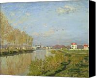 The White House Painting Canvas Prints - The Seine at Argenteuil Canvas Print by Claude Monet