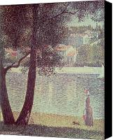 La Seine Canvas Prints - The Seine at Courbevoie Canvas Print by Georges Pierre Seurat