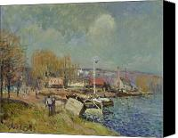 La Seine Canvas Prints - The Seine at Port-Marly Canvas Print by Alfred Sisley