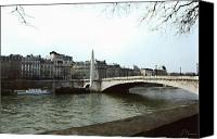 White River Scene Canvas Prints - The Seine River Canvas Print by Ellen Henneke