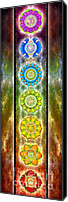 Chakra Canvas Prints - The Seven Chakras - Ed. 2012 II Canvas Print by Dirk Czarnota