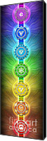 Sacral Canvas Prints - The Seven Chakras Ed. 2011 Canvas Print by Dirk Czarnota