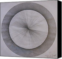 Mit Drawings Canvas Prints - The Shape of Pi Canvas Print by Jason Padgett