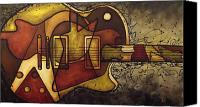 Guitar Painting Canvas Prints - The Shape That Defines Us Canvas Print by Darlene Keeffe