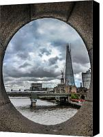 London Skyline Canvas Prints - The Shard London Canvas Print by Dawn OConnor