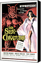 1956 Movies Canvas Prints - The She-creature, Paul Blaisdell, Marla Canvas Print by Everett