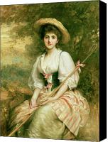 Sat Canvas Prints - The Shepherdess Canvas Print by Sir Samuel Luke Fildes