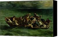 Shipwreck Painting Canvas Prints - The Shipwreck of Don Juan Canvas Print by Ferdinand Victor Eugene Delacroix