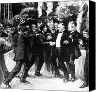 Usa President Canvas Prints - The Shooting Of President Mckinley,1901 Canvas Print by Photo Researchers