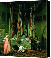 Orientalist Canvas Prints - The Shrine of Imam Hussein Canvas Print by Jean Leon Gerome