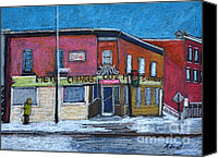 Montreal Restaurants Canvas Prints - The Silver Dragon Restaurant Verdun Canvas Print by Reb Frost