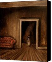 Haunted House Canvas Prints - The Sisters Canvas Print by Daniel W Green