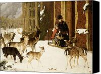 Elk Canvas Prints - The Sisters of Charity Canvas Print by Charles Burton Barber