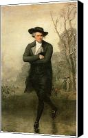 Colonial Man Painting Canvas Prints - The Skater Portriat of William Grant Canvas Print by Gilbert Stuart