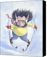 Leonard Filgate Canvas Prints - The Skier Canvas Print by Leonard Filgate
