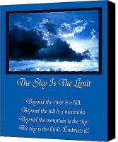 Inspirational Saying Canvas Prints - The Sky Is The Limit Canvas Print by Andee Photography