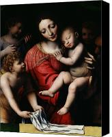 Mother Of God Canvas Prints - The Sleeping Christ Canvas Print by Bernardino Luini