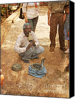 Wandering Canvas Prints - The Snake Charmer Canvas Print by Paul Ward