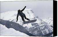Snowboard Canvas Prints - The Snowboard Championships Were Held Canvas Print by George F. Mobley