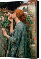 Women Canvas Prints - The Soul of the Rose Canvas Print by John William Waterhouse