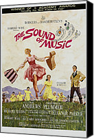 Postv Photo Canvas Prints - The Sound Of Music, Poster Art, Julie Canvas Print by Everett