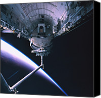 Challenge Canvas Prints - The Space Shuttle With Its Cargo Bay Open Canvas Print by Stockbyte