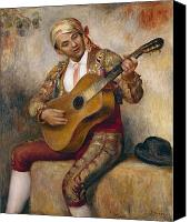 1919 Canvas Prints - The Spanish Guitarist Canvas Print by Pierre Auguste Renoir