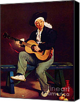 Singer Painting Canvas Prints - The Spanish Singer Canvas Print by Pg Reproductions