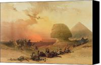 Traveller Canvas Prints - The Sphinx at Giza Canvas Print by David Roberts