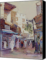 Spice Painting Canvas Prints - The Spice Souq Canvas Print by Dorothy Boyer