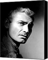 1955 Movies Canvas Prints - The Spoilers, Jeff Chandler, 1955 Canvas Print by Everett