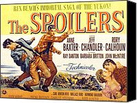 1950s Poster Art Canvas Prints - The Spoilers, Rory Calhoun, Jeff Canvas Print by Everett