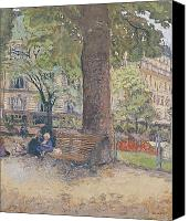 Parcs Canvas Prints - The Square at Vintimille Canvas Print by Edouard Vuillard