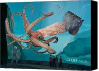 Space Art Canvas Prints - The Squid Canvas Print by Scott Listfield