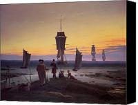 Beach Scenes Canvas Prints - The Stages of Life Canvas Print by Caspar David Friedrich