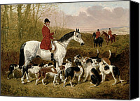 Dogs Canvas Prints - The Start  Canvas Print by John Frederick Herring Snr