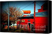 Got Canvas Prints - The Steakhouse on Route 66 Canvas Print by Susanne Van Hulst
