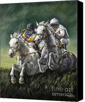 Pdjf Canvas Prints - The Steeplechase Canvas Print by Thomas Allen Pauly