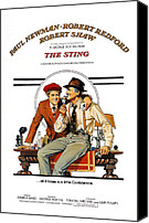 Awards Canvas Prints - The Sting, The, Robert Redford, Paul Canvas Print by Everett