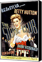 Opera Gloves Canvas Prints - The Stork Club, Don Defore, Betty Canvas Print by Everett