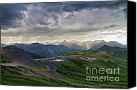 Continental Divide Canvas Prints - The Storm at Oh Point Canvas Print by Lana Trussell