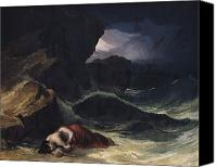 Shipwreck Painting Canvas Prints - The Storm or The Shipwreck Canvas Print by Theodore Gericault