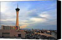 Architectur Canvas Prints - The Stratosphere in Las Vegas Canvas Print by Susanne Van Hulst